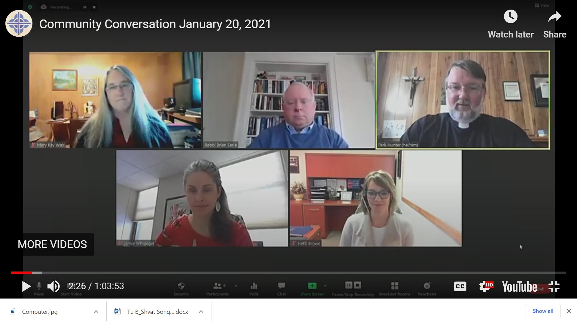Community Conversations Jan 2021